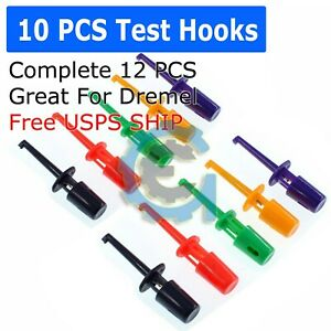 10 Pcs Lead Wire Kit Test Hook Clip Grabbers Test Probe Smt smd For Multimeter