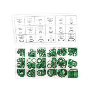 270pcs Kinds Green Car Auto Air Conditioning A C O Ring Seal Assortment Kit