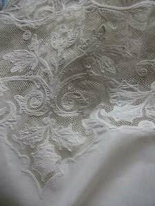 French Tambour Lace Panel Cotton Curtains