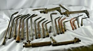 Vintage National Victor Torch Welding Cutting Brazing Heads Torch Tips Lot Of 26
