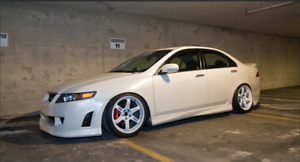 Side Skirts Mugen Style For Honda Accord 7 Vii Acura Tsx Cl7 2003 2008
