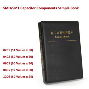 0201 0402 0603 0805 1206 Smd smt Capacitor Components Sample Book Kit Assortment