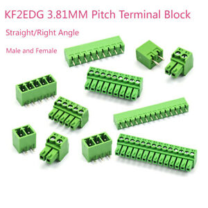 Kf2edg Terminal Block Male Female 3 81mm Pitch Pcb Screw Connector 2 3 4 5 16p