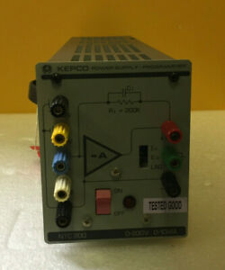 Kepco Ntc 200 0 To 200 V 0 To 10 Ma Power Supply Programming Interface Tested