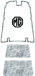 Hood Insulation Pad Cover For 1962 1980 Mg B c gt Acoustihood With Mg 01 Logo