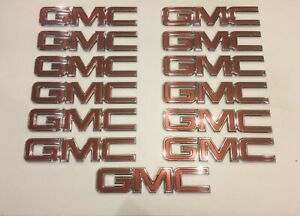 Lot Of 13 New Gmc Oem Emblems Sierra 1500 2500 And 3500 Gm Part 23122158