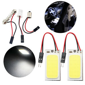 2x 36 Led Car Interior Cob Dome Ceiling Map Light Bulb Panel Lamp Indicator 12v