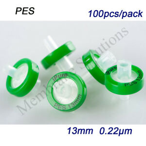High Quality 100pcs Pes Non Sterile Syringe Filter 0 22 m 13mm hplc lab Supplies