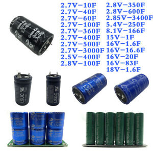 2 7 16v Farad Capacitor Super Capacitor With Protection Board Module Set 1 3400f