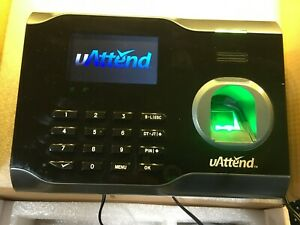 Uattend Bn6500 Wi fi Biometric Fingerprint Time Clock With Power Supply