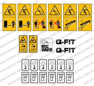 Jcb Telehandler Loadall Safety Warning Decal Sticker Set
