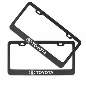 Auto Parts 2pcs Stainless Steel License For Toyota Plate Frame With Screw