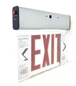 Red Led Emergency Exit Light Sign Brand New
