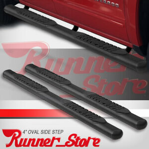 For 05 20 Nissan Frontier Crew Cab 4 Running Boards Side Step Nerf Bar Oval Blk