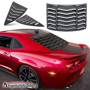 Matte Black Rear Side Window Louver Sun Shade Cover Fit Chevy Camaro 2010 2015