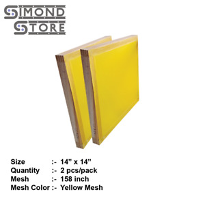 2pcs Wooden Silk Screen Frame Screen Printing With High Quality 158mesh 14x14