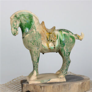 Tang Sancai Unearthed War Horse Porcelain Antiques Antique Collectibles