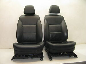 Bmw E60 E61 5 Series Factory Front Seat Pair Black Leather Heat 04 10 Oem 100918