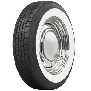 American Classic 2 1 4 Wide White Wall Tire Perfect For Vw Beetle 165r15 Coker