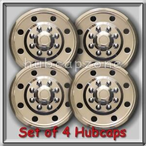 4 16 Stainless Steel Hubcaps Wheel Simulator Tandem Axle Single Wheel Trailers