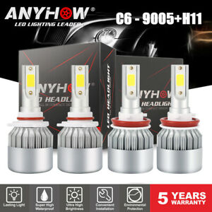 4x 9005 Hb3 H11 Led Headlight For Toyota Camry 2007 2017 450000lm High Low Beam