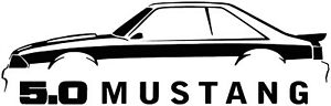 Ford Mustang 5 0 Vinyl Decal sticker