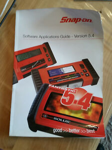 Snap On Scanner Software Applecationguide Version 5 4 Book Used
