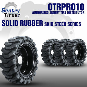 12x16 5 Sentry Tire Solid Skid Steer Tires 4 Tires Wheels Case 12 16 5
