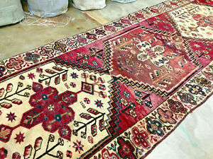 5x13 Antique Persian Rug Runner Vintage Hand Knotted Caucasian 4x13 4x15 5x14 Ft