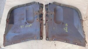 1947 1948 Chevy Radiator Air Deflector Side Panels Original Gm Pair