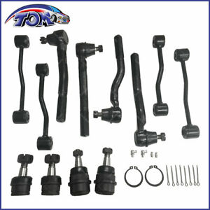 12pcs Front Suspension Kit Tie Rod Ball Joint For 1999 2004 Jeep Grand Cherokee