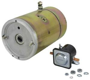 New 12v Cw Meyer Snow Plows Motor And Solenoid For E57 E60 Pumps Mue6209s 2869ab