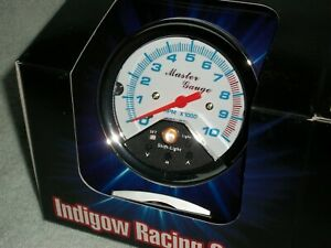 10 000 Rpm Tach White Shift Lite Light Imca 3 5 8 Race Tachometer Ratrod Drag