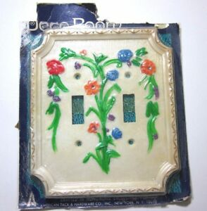 1 Vintage Floral 2 Gang Double Switch Plate Cover American Tack Hardware Bouquet
