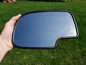 00 02 Chevy Tahoe Suburban Yukon Driver Door Mirror Glass Heated Auto Dimming J