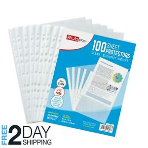 100 Sheet Protectors Holds 8 5 X 11 Inch Sheets 11 hole Acid free