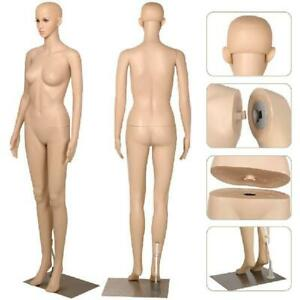 Yaheetech Female Plastic Dress Form Mannequin Full Body With Metal Base 68 9