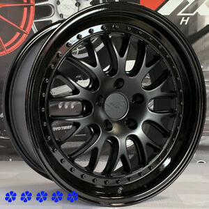 Xxr 570 Wheels 18 35 Flat Black Gloss Lip Rims 5x114 3 06 15 19 Honda Civic Si