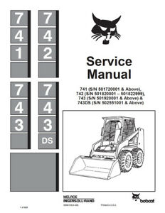 New Bobcat 741 742 743 743ds Skid Steer Repair Service Manual 1988 6566109