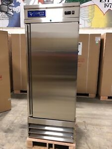 New Coolfront Single 1 Door Upright Commercial Stainless Freezer 23 Cu