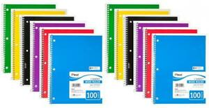 Mead Spiral Notebook 1 Subject Wide Ruled 100 Sheets 8 X 10 1 2