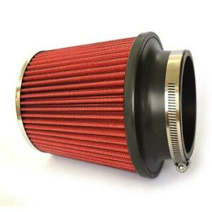 New Red 3 5 Inch Race Performance Inlet Cone Air Filter Intake Universal Us
