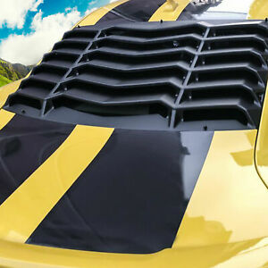 Rear Window Louver Sun Shade Cover Black For 2010 2015 Chevy Camaro Replacement