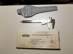 Vintage Craftsman 40257 Hardened Vernier Caliper W Box And Case Collectible