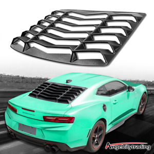 Rear Window Louver Windshield Lambo Style For 2016 2019 Chevy Camaro Matte Black