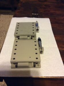 Lot Of Two Cleveland Linear Stage With 25mm Micrometer 5 x5