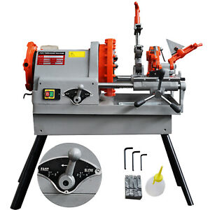 Electric Pipe Threading Machine 1 2 4 Npt Oil Can Allen Wrenches 110v 60hz
