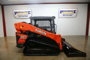 2016 Kubota Svl 75 2 Skid Steer Track Loader Open Rops 2 Speed 74 Hp