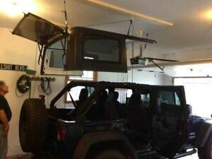 1976 2018 Jeep Wrangler Cj7 Yj Tj Jk Hard Top Hoist Garage Hardtop Holder