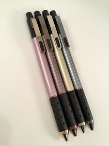 Tul Retractable Pen Gel Assorted Mixed Metal Elements 4 Pens Limited Edition 0 7